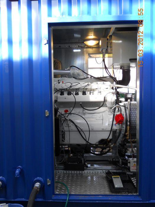 Kontejnerové provedení 200kW jednotky na bioplyn.